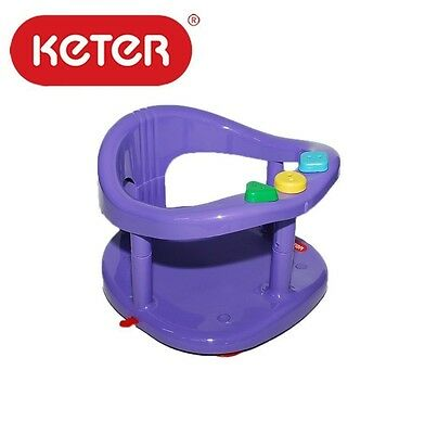 Baby Bath Tub Ring Seat New Keter Infant Anti Slip Chair Safety Color purple