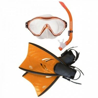 NEW Hammerhead Propella Kids Snorkel Set in Orange with Mask, Fins and Snorkel