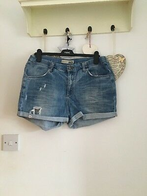 Women's Pale Denim Blue Maternity Shorts From Topshop Size 14
