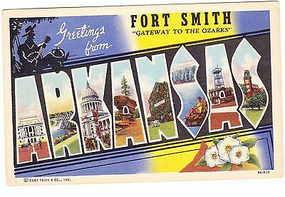 Greetings From Fort Smith  Arkansas Postcard
