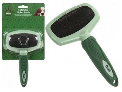 Crufts Soft Grip Dog Pet Slicker Brush For A Healthy Shiny Coat Helps With Knots
