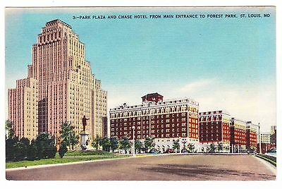Park Plaza And Chase Hotel----- Forest Park----St Louis Missouri----- Postcard