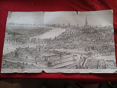 Old picture drawing of LONDON  .. THE BUILDER 1888