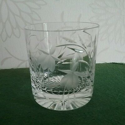 Stuart Crystal Cascade Whiskey Glass Fuchsia design Royal Brierley interest