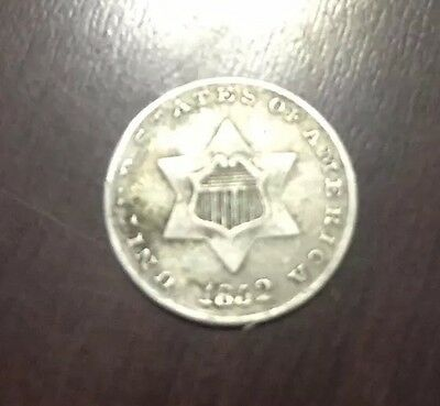 1852 3c Nickel~ Silver Coin~ Trime