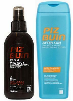 Piz Buin TAN INTENSIFIER DUO SPF 6 Spray & TI Aftersun for Faster Tanning