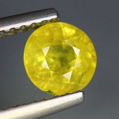 0.99 Cts_World Class Very Rare Gemstone_100 % Natural Green Sphene_Russia