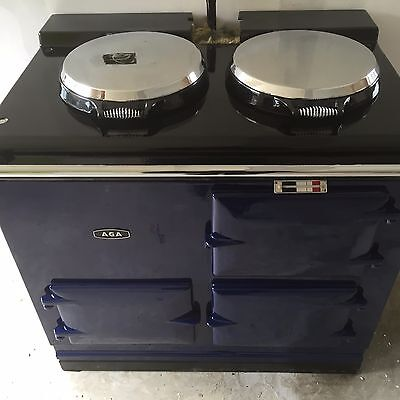 Aga Cooker 2 Oven, Fully Reconditioned, 13amp Electric in Blue, Del & Installed