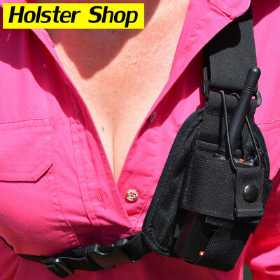 UHF Hand Held Two Way Radio Chest Harness Holster Holder - Stockman