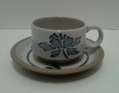 1 Midwinter Stoneware Blue Print Wedgwood Cup & Saucer