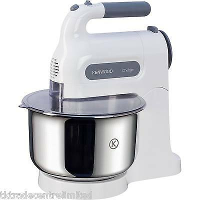 Kenwood HM680 Chefette Hand Mixer with Stand in White.
