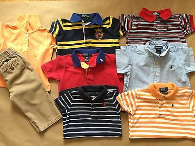 Polo Ralph Lauren Baby Boy 18m Lot Of 8 Pieces, Rompers,One Piece,Pants,Shirt