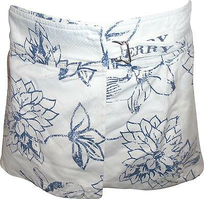 USED Girls Burberry White And Navy Floral Skirt Size 4 Years (P.L)