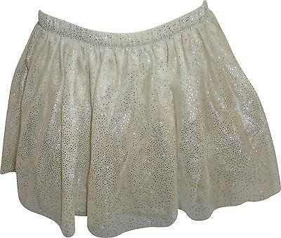USED Girls Cherokee Golden Glittery Skirt Size 6-7 Years (P.L)