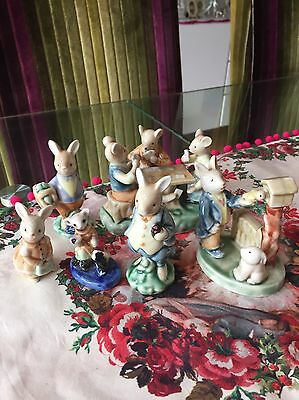Saxony Vintage China Rabbits mixed lot.