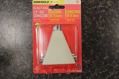 """New B-16 Wiremold On Wall Metal 1/2"""" Box Connector   New"""
