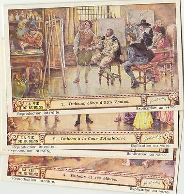 Rubens Painter - 6 Liebig trade cards - san1421bel issued in 1940