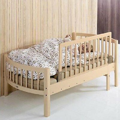 BabyDan Wooden Bedrail Bed Guard Natural and White Baby Toddler Child ONE SIZE