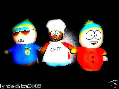 South Park Plush Toy Set! 2 Cartmans & 1 Chef ***Excellent Used Condition***