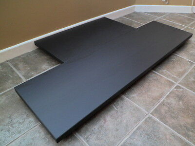 SLATE FIREPLACE HEARTH - made to measure Italian black slate fire hearth stone