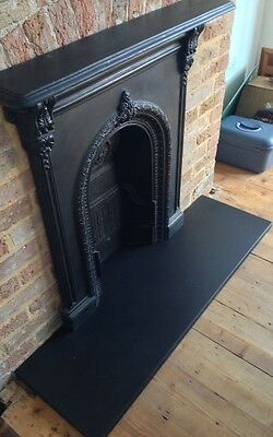 ITALIAN BLACK SLATE HEARTH STONE - made to measure fire hearth for fireplace