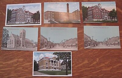 Perry, NY - Lot of 7 Vintage Postcards 1913
