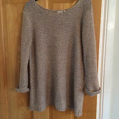 NEXT Gold Knitted Maternity Jumper Size 12