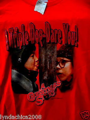 A Christmas Story TRIPLE DOG DARE YOU Shirt (Size XL) BRAND NEW WITH TAGS