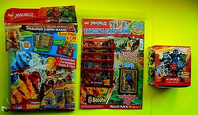 Lego Ninjago Serie 2 Trading Card Game 1 Starterpack + 1 Display + 1 Multipack