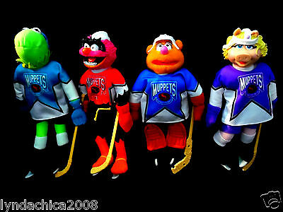 Complete Set of 4 McDonald's MUPPET HOCKEY TOYS! 1995 (11 inches each)