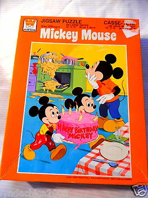 Vintage Mickey Mouse Jigsaw Puzzle (100 Pieces) COMPLETE