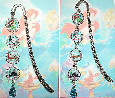 THE LITTLE MERMAID Bookmark Book Mark Pendant Disney Ariel Princess Sebastian