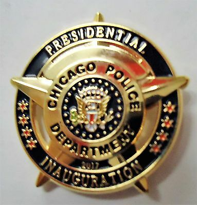 """Chicago Police department """"PRESIDENTIAL INAUGURATION"""" LAPEL PIN"""