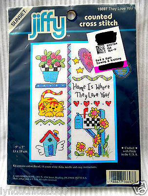 THEY LOVE YOU Cross Stitch Kit# 16697 By Jiffy ***SEALED***