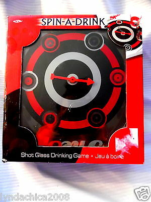 Spin a Drink Hit The Spot Drinking Game - 6 Shot Glasses Included NEW IN BOX