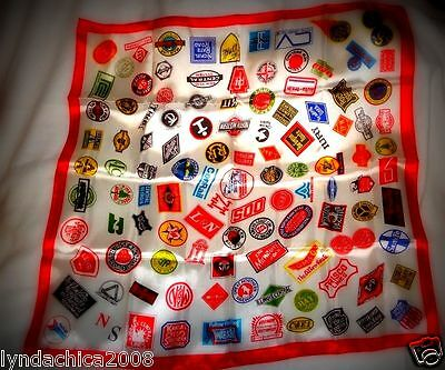 Vintage Collectible RAILROAD RAILWAY Logo Promotional Scarf