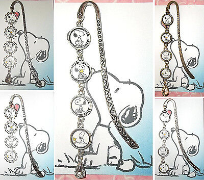 SNOOPY Bookmark With Pendant Book Mark Peanuts Woodstock Charlie Brown Puppy Dog