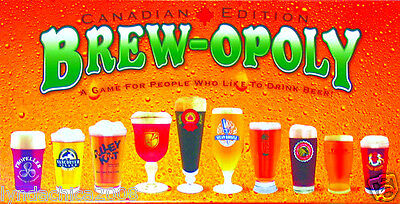 BREWOPOLY CANADIAN EDITION Beer Themed Property Trading Board Game!