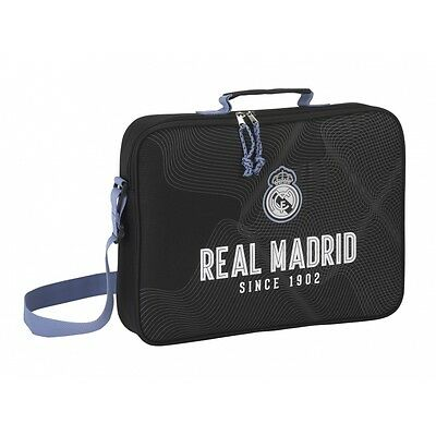 "REAL MADRID ""BLACK"" Bolso Maletín extraescolares// School Briefcase"