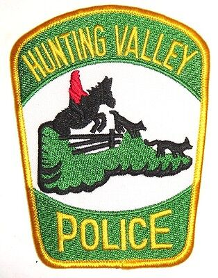 USA HUNTING VALLEY POLIZEI Aufnäher Patch Us Police