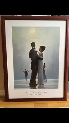 """JACK VETTRIANO"" PERFECT FRAMED PRINT 34""x27"" TITLE DANCE ME TO THE END OF LOVE"