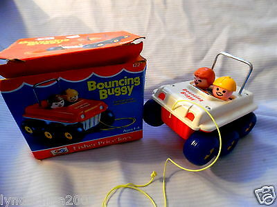 Vintage Fisher Price Bouncing Buggy Toy 1973 ***Excellent condition***