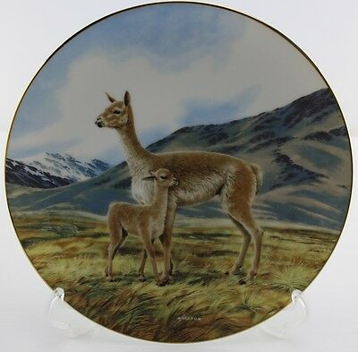 """Plate #9 The Vicuna """"Last of Their Kind -The Endangered Species Collection"""" NEW!"""