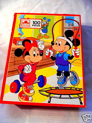 Vintage Mickey & Minnie Mouse Jigsaw Puzzle (100 Pieces) COMPLETE!