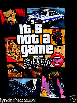 SO HOOD It's not a game Hip Hop Shirt (Size EXTRA LARGE)