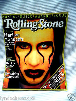 Vintage MARILYN MANSON Rolling Stones magazine cover - January 1997