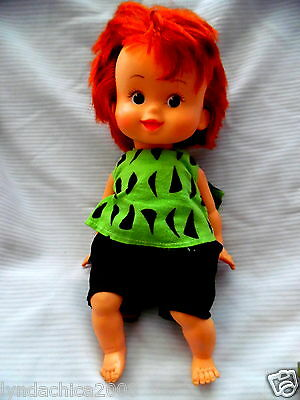 Vintage 1980's Pebble Flintstones Doll (15 INCHES)