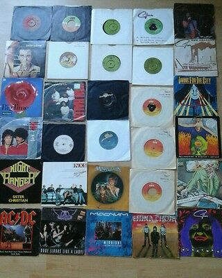 "36 Metal & Rock 7"" Singles Joblot ,  All Listed. Acdc, Gillan , Judas Priest Etc"