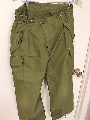 Canadian Forces Trousers Combat Pants Winter Cold Green tag gone 7034?