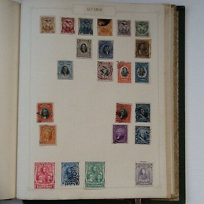 Collection of old stamps from Ecuador